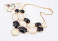 Колье-ошейник Hot Sale Western Fashion Round Choker Collar Necklace SPX0912 Black+White
