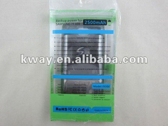 2500 mah caixa de bateria caso carregador para Samsung Galaxy S3 SIII i9300 carregador caso Power pack couro caso KWB051