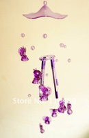 Freeshipping wind chime/windbell handicraft with music  ,with  purple angel accessory home decoration/gifts for friends
