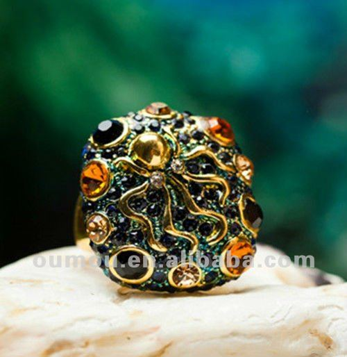 2013 Gold Plated Zinc Alloy Metal Wedding Ring
