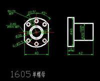 Шарико-винтовая пара Ballnut For SFU1605- C7 Anti Backlash Ballscrew