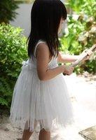 Платье для девочек Girls Summer dresses Korean girls white rose flower dress, vest dress, 5pcs/lot