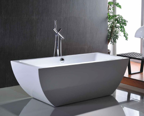 Acrylic and Fiberglass Small Freestanding Bathtub With CE TUV ISO SA