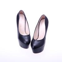 Туфли на высоком каблуке sexy women's platform high heels shoes PU black blue yellow pink dropship lady shoes 006
