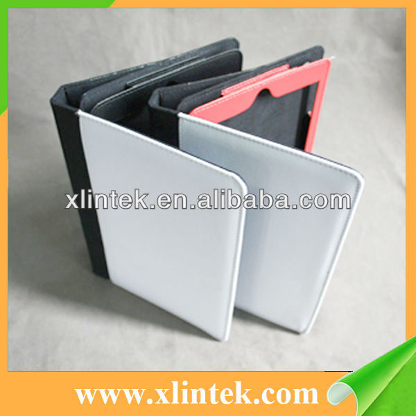Hot Blank Sublimation Leather Cases For iPad mini (fabric) materials