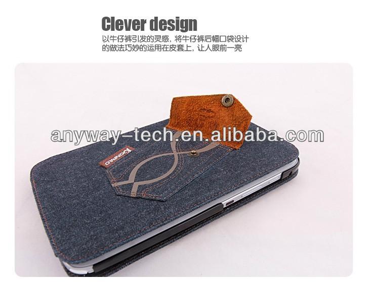 Korean version of the shell protective sleeve pocket denim slim pocket holster Sleep cover for iPad mini 2