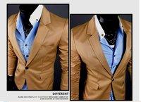 новые люди случайные тонкий стильный подходит одна кнопка костюм пиджак пальто куртки черный/хаки/белый m-xl x 11