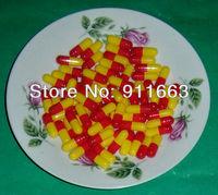 200pcs 1# красный/желтый цветные капсулы, пустые желатиновые капсулы размером 1