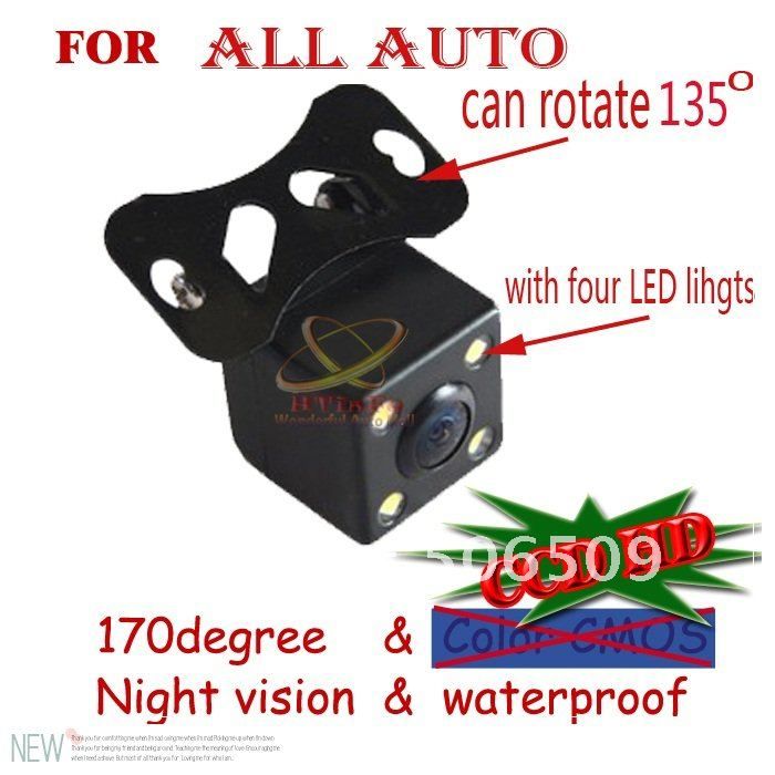 CCD HD night vision car rear view camera front view rear view camera for all auto car Universal camera with LED lights