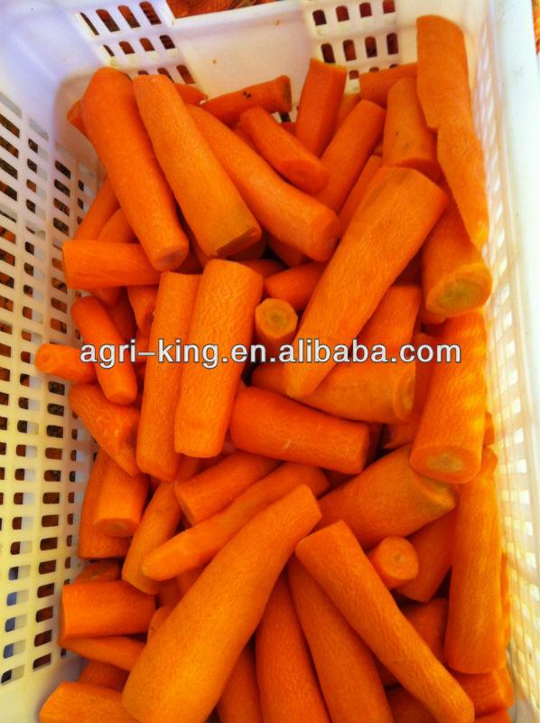 Different type frozen sliced carrot