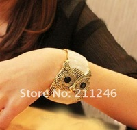 2012 Newest fashion bracelet Jewelry Hot sale The popular trend of mashups retro the drip owl bracelet