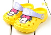 Кроксы для мальчиков Children's summer sandals, cartoon Mickey casual slippers hole shoes #001 Вискоза