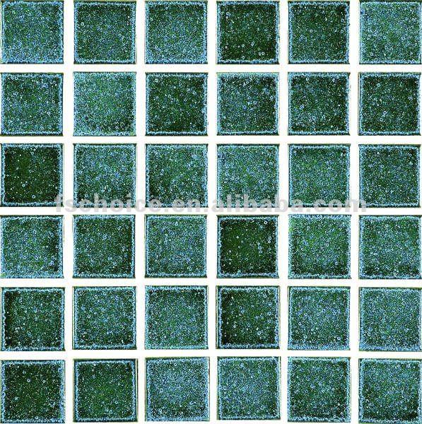 Piso Para Baño Verde:verde crujido de estilo mosaico de cerámica del piso interior 73x73mm