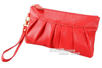 Клатч 2013 Baul Women's Genuine Leather Candy Color Clutch Purse Lady Handbag Tote