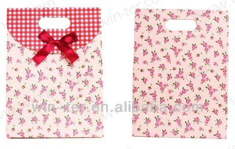 WT-PPB-836 Lovely ribbon tie gift bags