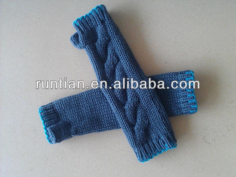 Длинные женские перчатки без пальцев - Цитировать