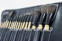 Кисти для макияжа retail new portable 18 in1 brush sets High Grade pure natural Hair Makeup Kit cosmetic tool professional bag