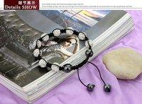 2 шт/много! высокое качество shamballa браслет, регулируемые shamballa браслеты ювелирные изделия 10 мм shamballa хрустальный шар бусы