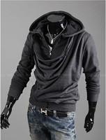 Мужская толстовка 2013 new hot men's hoodies Fashion heap collar design tide people Men Slim Hooded sweater