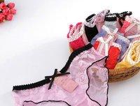Женские трусики Sexy Women Rose flowers underwear Low waist lace briefs 7264