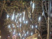 Праздничное освещение 30CM 18 LED Meteor Shower Rain Tube Light Indoor Outdoor Xmas Tree 220v EU Plug