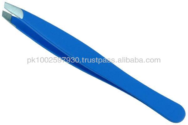 Eye Brow Tweezers,Plucking Tweezers, Tweezer Red Stainless Steel Professional Slant