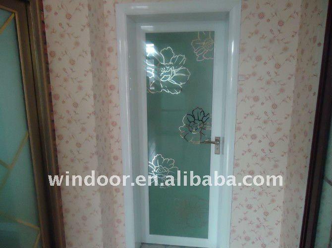 Puertas De Aluminio Para Baño Interior:interior de pvc esmerilado de vidrio puerta del baño