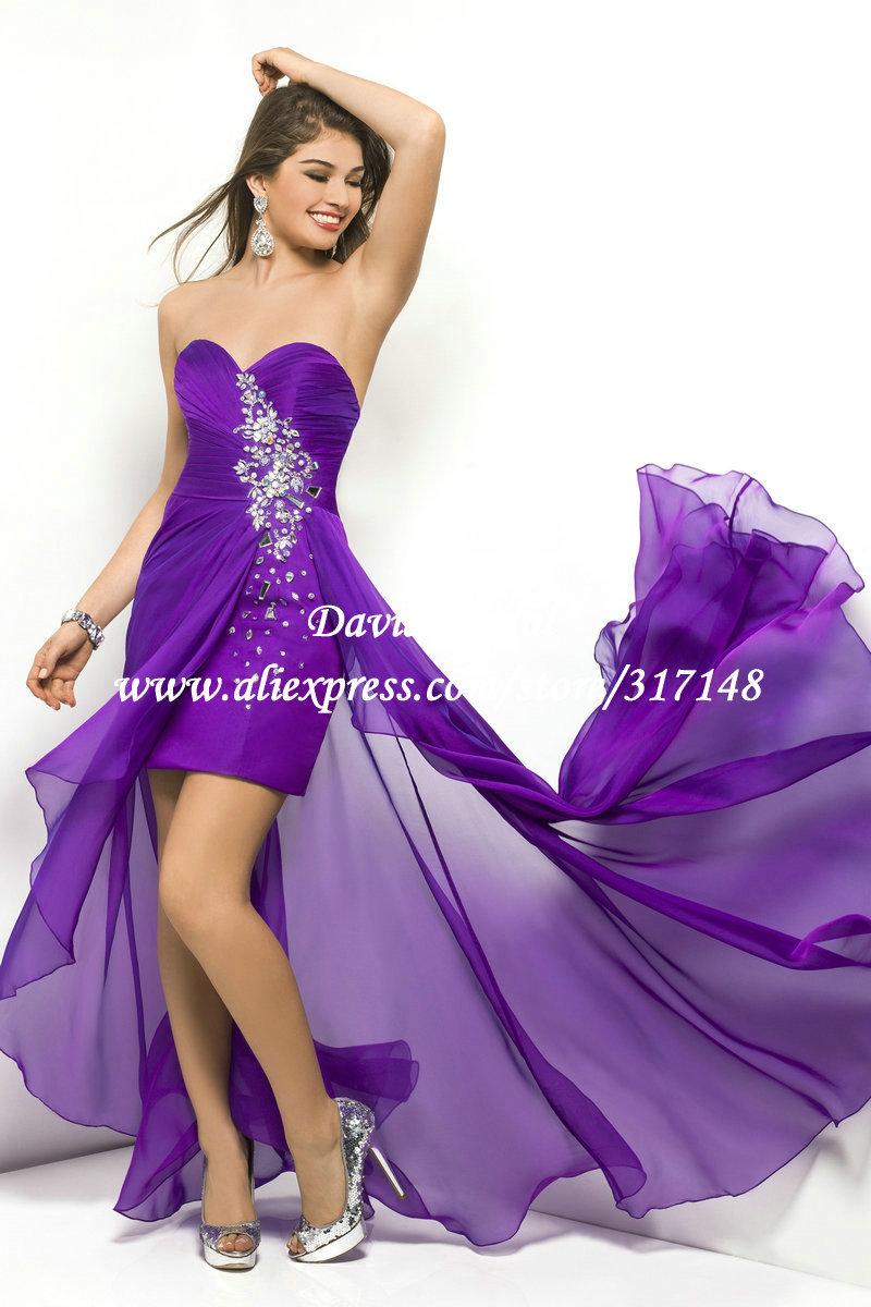 Purple Short Prom Dresses