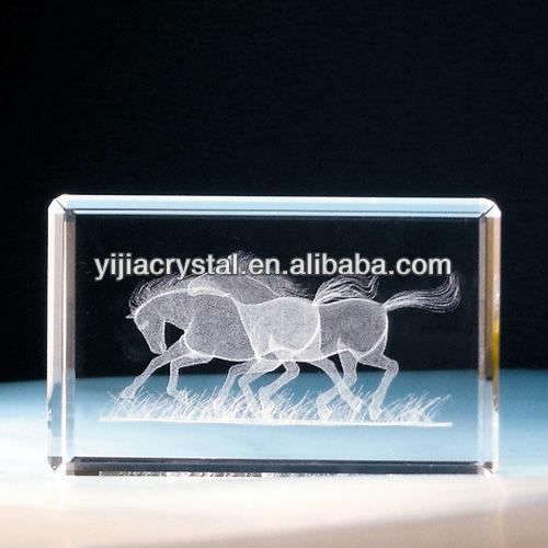 3d laser cube engraved block photo