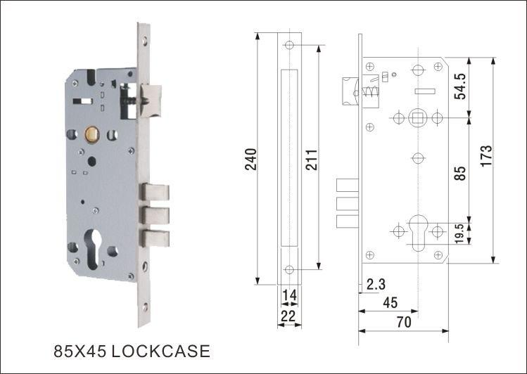 leva maniglia in acciaio inox porta di sicurezza blocco/maniglia ... - Porte In Legno Di Design Di Alta Sicurezza