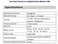 Инструменты измерения и Анализа New Noise Sound Level Digital Decibel dB Meter USB
