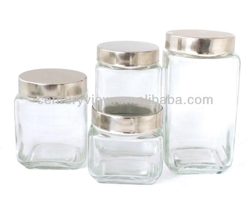 square shaped cheap glass jars buy cheap glass jars. Black Bedroom Furniture Sets. Home Design Ideas