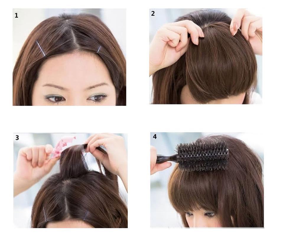 Как сделать накладную челку из натуральных волос своими руками