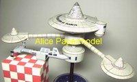 Алиса papermodel] длиной 50 см startrek кораблей spacestation k7 модели