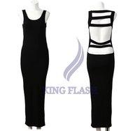 free shipping 2012 Women Summer Sexy Backless Beach Maxi Long Dress 2 Colors 3834