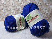 пряжа NEW 4*50g Skeins Natural Bamboo Cotton Knitting Yarn Sport Weight 200g Red, Blue, Orange, Black, Purple, Pink, Green, Cream etc