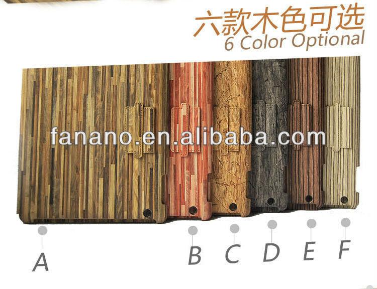 Wooden PU Leather Case for iPad Mini