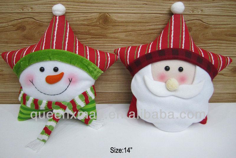2013 de la navidad muñeco de nieve del reno patrones cojines de los ...