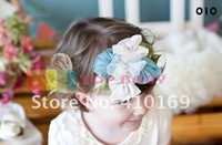 Детский аксессуар для волос New TOP BABY Girls Hairband Baby Hair Band Baby Girl's Flower Headbands Children s Hair Accessory, 50 Piece