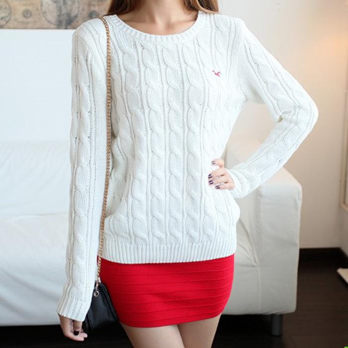 Белый Пуловер Женский