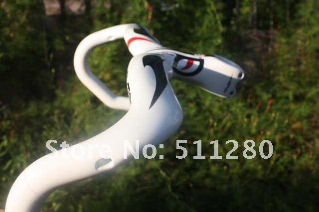 free shipping! 2011 Pinarello prince most Full carbon road carbon handlebar - 420mm/440mm(white