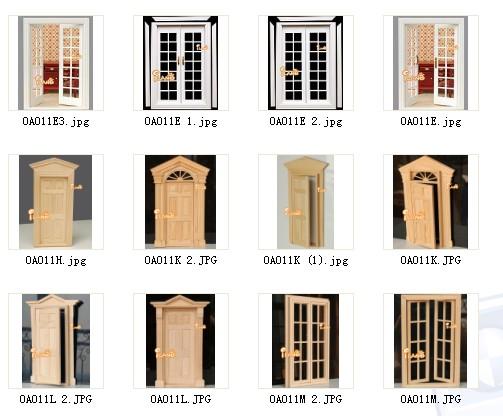 Puertas de madera para casas de muñecas