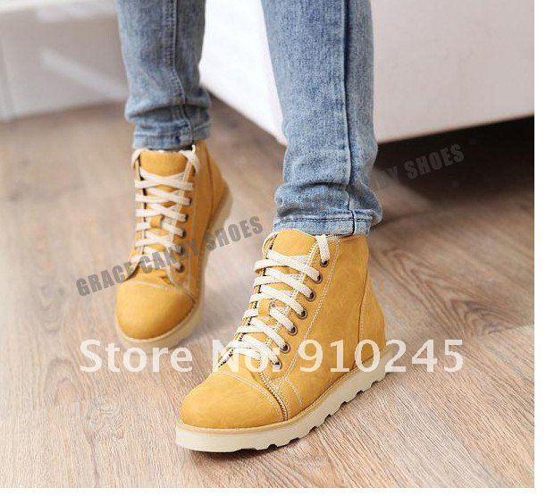 Ботинки Женские Без Каблука