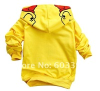 Winnie Pooh bear childrens clothing KT cat boy's girl's top shirts Hooded Sweater hoodie whole suits outfits