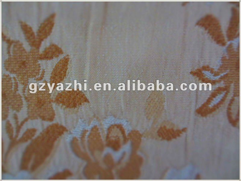 Home drapery, golden color with European valance, Lace.