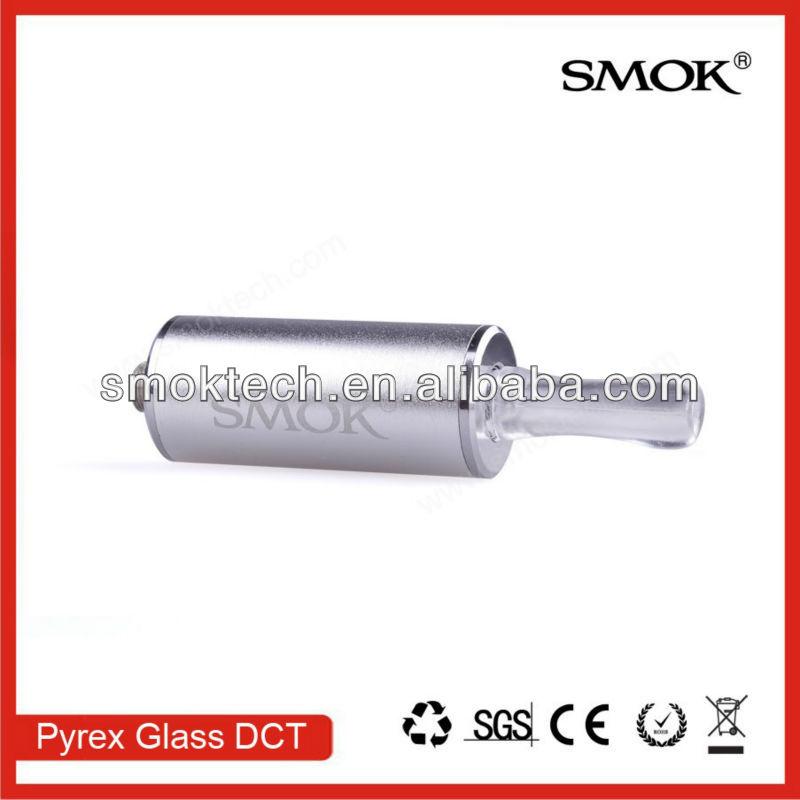 2013 best DCT Smoktech 6ml Pyrex Glass DCT high capacity with Locking caps