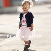 Комплект одежды для девочек Free&Drop Shipping 3 Pieces Set Girls Baby Clothes T-shirt+Coat+Dress Outfit TuTu Dress 0-5 Years XL046