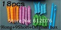 2pc плойка цвет скручиваемость веревки волос инструменты статьи 18 щипцы для завивки волос ролик 9long и 9short продажи