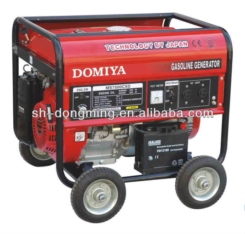 avr battery start 5KVA gasoline generator