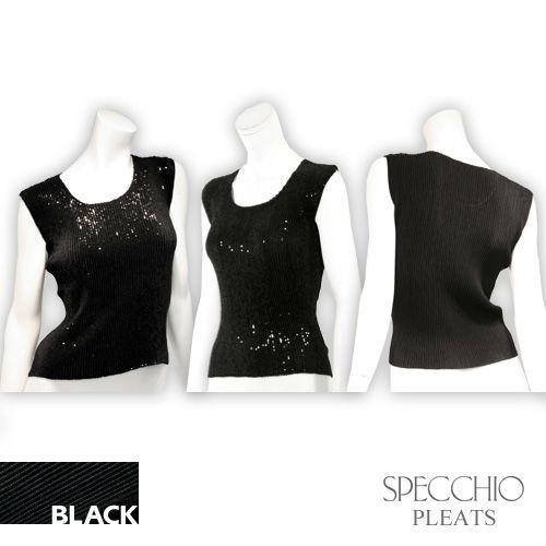 Sequined sleeveless Oberseiten schwarze Sequins party gefaltete Oberseitenkleidung der Frauen für schwangere Frauen